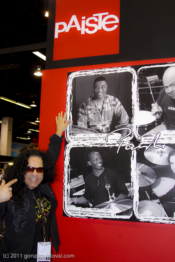 NAMM 2011 Gonzo &amp; Paiste