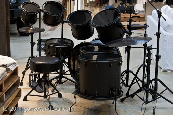 Flat Black Drum Set
