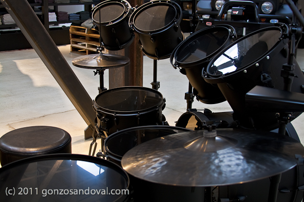 Natural Day light and the Flat Black Drums