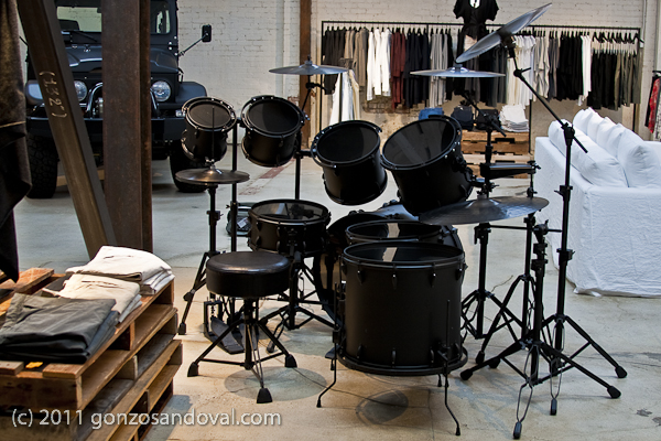 Flat Black Drums From the Rear