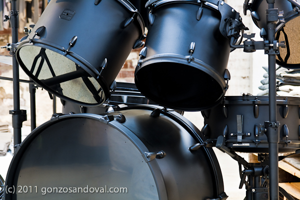 Flat Black Drums Set