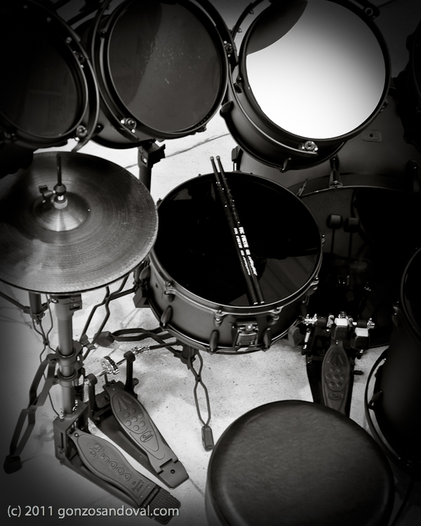 Drums in Black & White